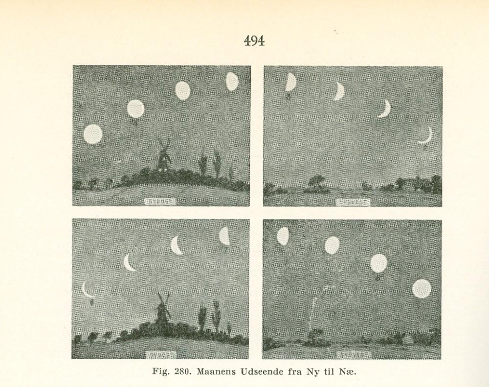 Månens utseende fra ny til ne